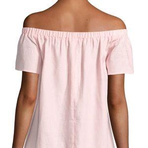 704fd94d91 Neiman Marcus Dresses - ✨NEIMAN MARCUS✨Pink Linen Off the Shoulder Dress